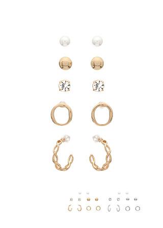 ac3987 다채로운 5가지 타입의 이어링 세트 earring set