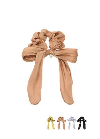 ac3994 세련된 샤틴소재의 리본큐빅 포인트 헤어밴드 hairband