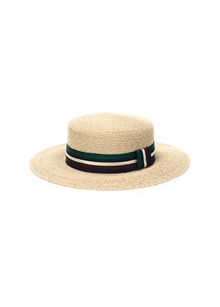 ac3979 컬러배색 리본장식의 포인트 라피아햇 hat