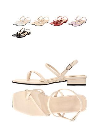 sh1509 크로스 쪼리 스트랩 장식의 로우 샌들 힐 shoes