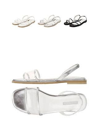 sh1518 시원한 PVC스트랩의 슬링백 오픈토 샌들 shoes