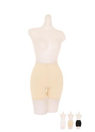 un224 바디에 착 붙는 깔끔 핏의 보들촉촉한 쫀득 허리밴딩 속바지 언더웨어 underwear