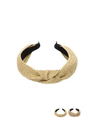 ac4005 두가지타입으로 구성된 라탄 포인트 헤어밴드 hairband
