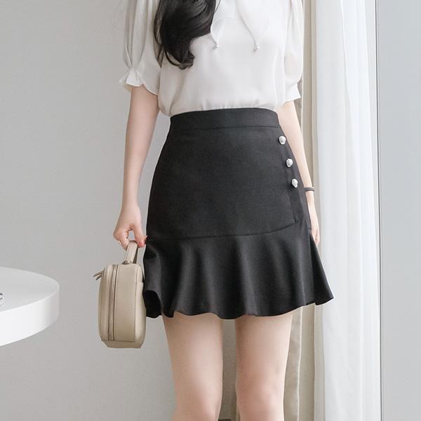 sk3577 여성스러운 진주장식 포인트의 프릴장식 큐롯팬츠 skirt