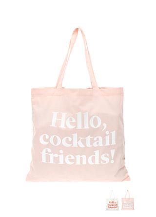 bg807 사랑스러운 컬러 배색의 HELLO 에코백 bag