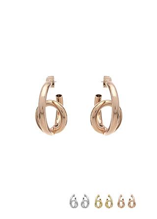 ac4084 볼륨있는 쉐입으로 트렌디한 포인트 빅 이어링 earring