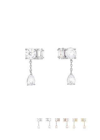 ac4088 부담없이 착용하기 좋은 미니 물방울 큐빅 이어링 earring