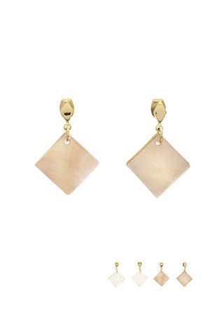 ac4098 은은한 빛으로 우아하게 연출되는 스퀘어 자개 이어링 earring