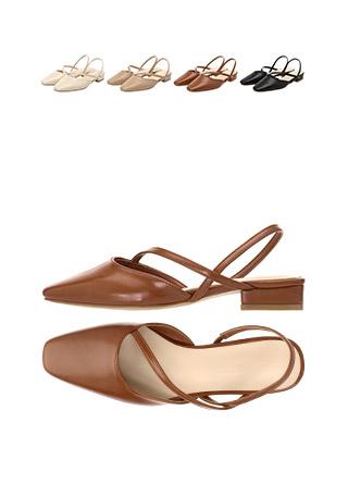 sh1571 발등을 감싸주는 세련된 스트랩장식의 슬링백 슈즈 shoes