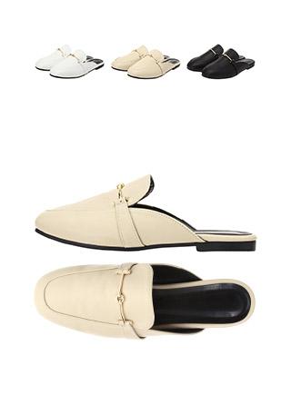 sh1579 발등 골드바 장식의 둥근코 블로퍼 슈즈 shoes