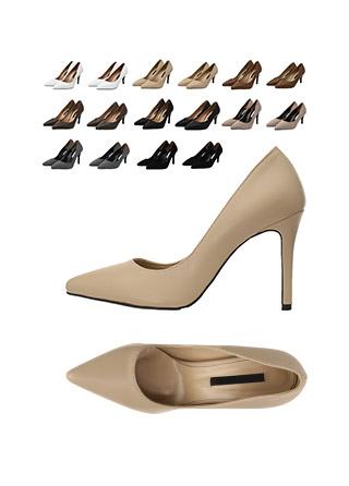 sh1575 스웨이드, 합피 2가지 타입과 2가지 높이로 구성된 슬림코 펌프스 힐 shoes