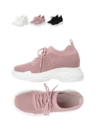 sh1578 니트 소재로 꽉 잡아주는 편안함 가득한 어글리 스니커즈 shoes