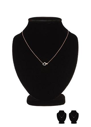 ac4108 미니 더블 하트 포인트의 큐빅 네크리스 necklace