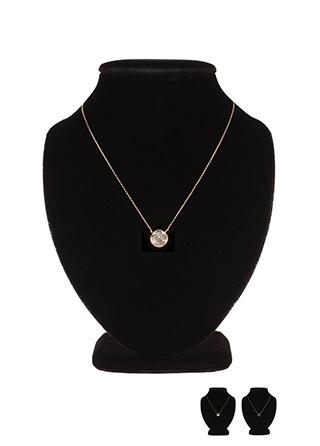 ac4116 감각적인 무드의 크로버 팬던트 네크리스 necklace
