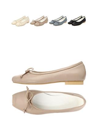 sh1583 특별한 앞코 쉐입의 리본 포인트 플랫 슈즈 shoes