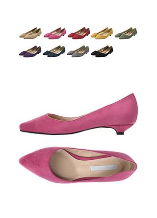 sh1588 깔끔 베이직한 디자인의 스웨이드 슬림코 플랫슈즈 shoes