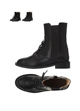 sh1595 무광, 유광 2가지 타입으로 구성된 트렌디한 스트랩 앵클부츠 shoes