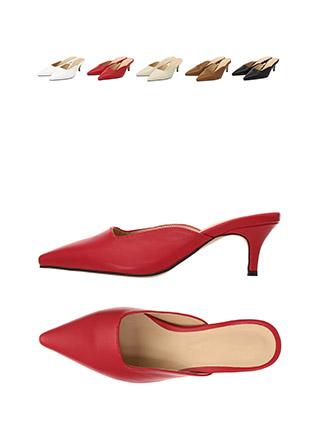 sh1597 클래식한 무드가 느껴지는 발등 스퀘어 쉐입의 블로퍼 미들힐 shoes