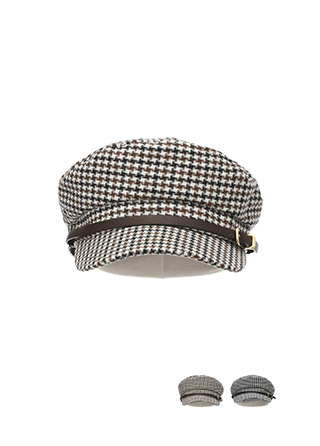 ac4174 유니크한 무드의 울혼방 하운드투스 체크 헌팅캡 hat