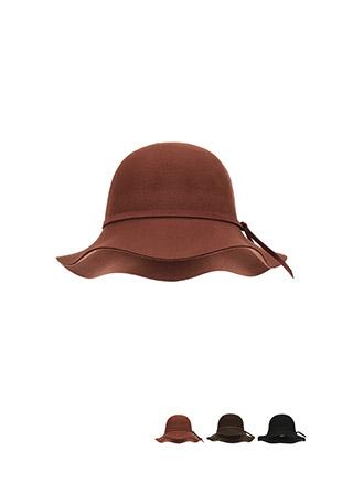 ac4175 울 소재로 완성된 리본 스트랩 페미닌 플로피햇 hat