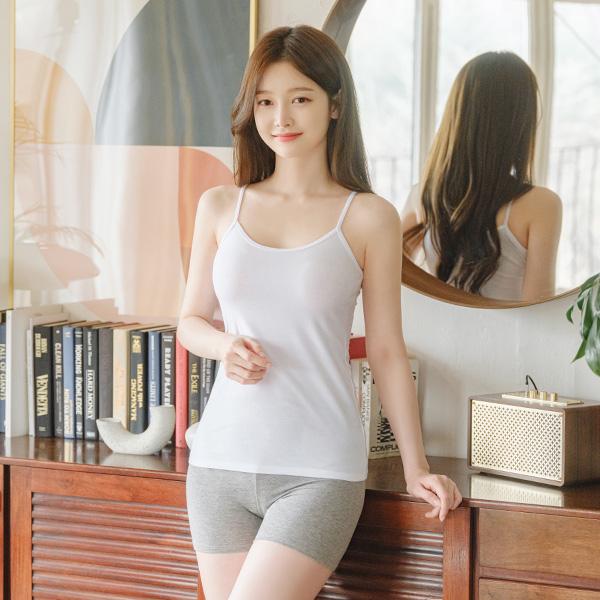 un044 톡톡한 코튼 소재의 베이직 이너용 끈나시 underwear