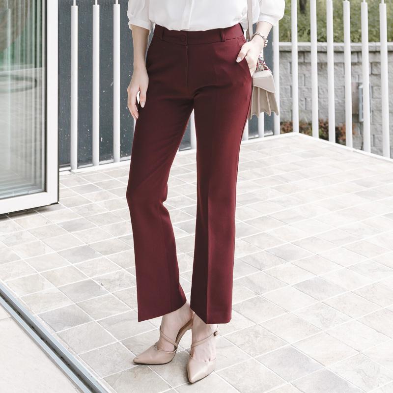 ps1461 착용감 좋은 스판 혼용 간절기 슬림부츠컷 슬랙스 pants