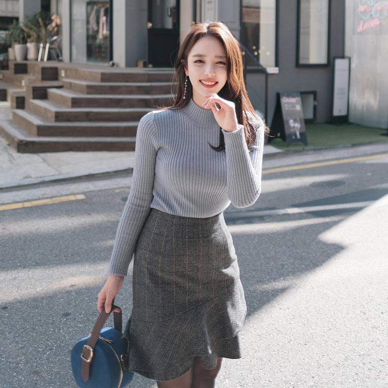 nt1615 도톰 따뜻한 반폴라넥의 달콤한 10가지컬러 데일리 니트탑 knit