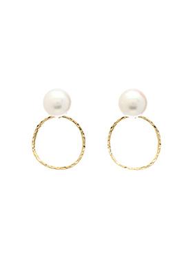 ac3690 감각적인 디자인의 볼드한 진주 링 드롭 이어링 earring