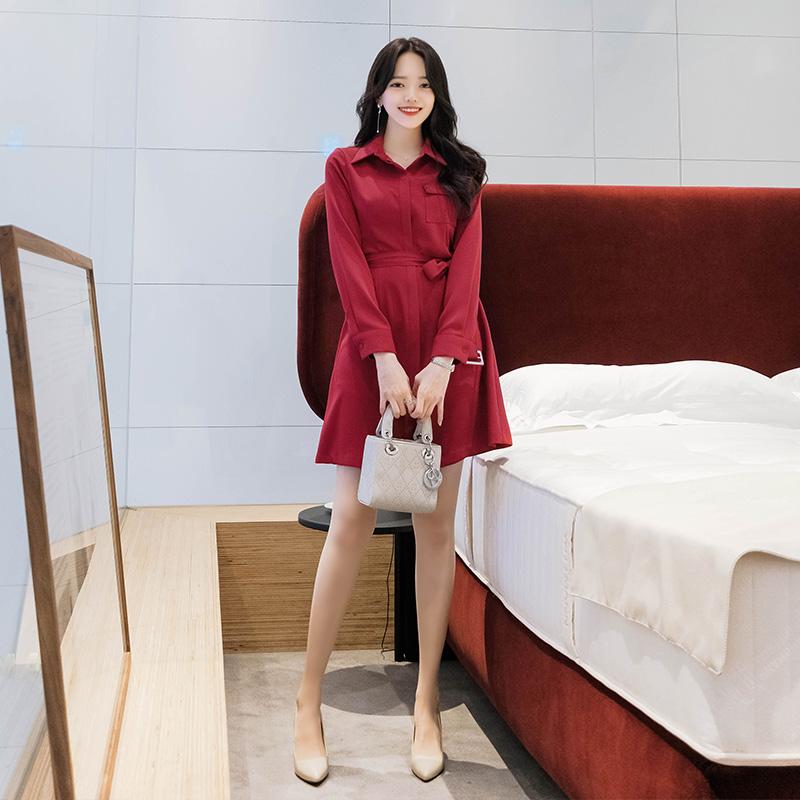op6224 드라마 속 여주인공처럼 세련된 차수현룩 벨트세트 셔츠 원피스 dress