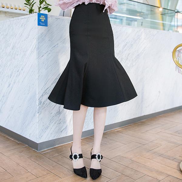 sk3284 언제나 베스트셀러라인의 미디기장 머메이드 스커트 skirt