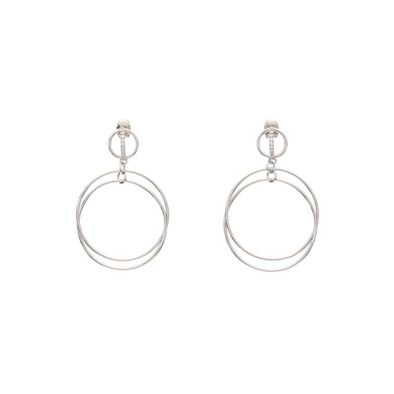 ac3809 입체적인 라운드쉐입의 투링 이어링 earring
