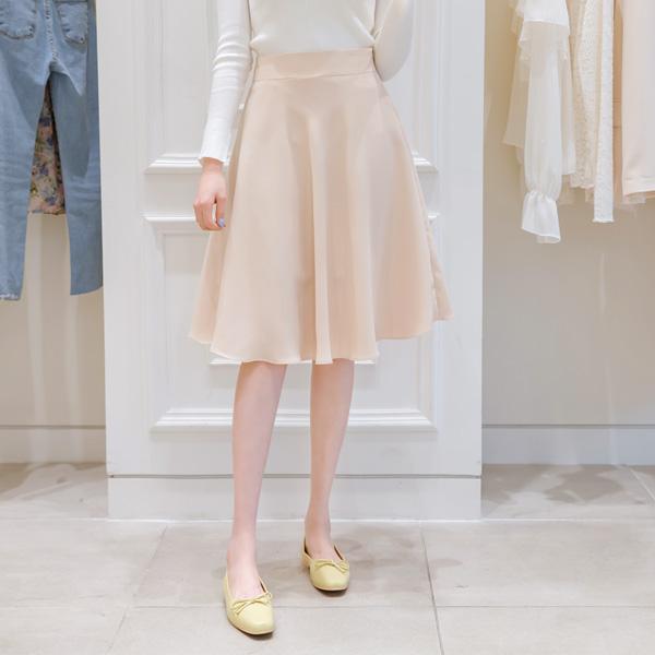 sk3287 베이직 플레어 미디롱 스커트 skirt