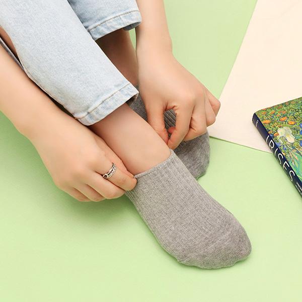 un175 벗겨짐 걱정 없이 신기 좋은 데일리한 디자인의 쫀쫀 페이크 골지 삭스 socks