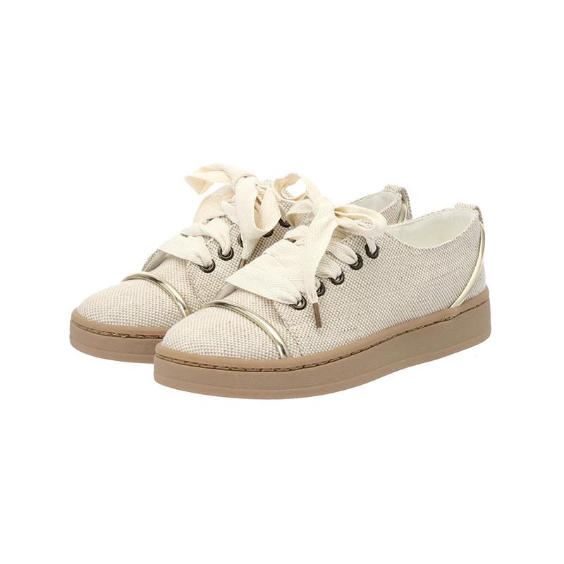 sh1310 골드N실버 장식 포인트로 엣지있게 완성된 라텍스 데일리 스니커즈 shoes