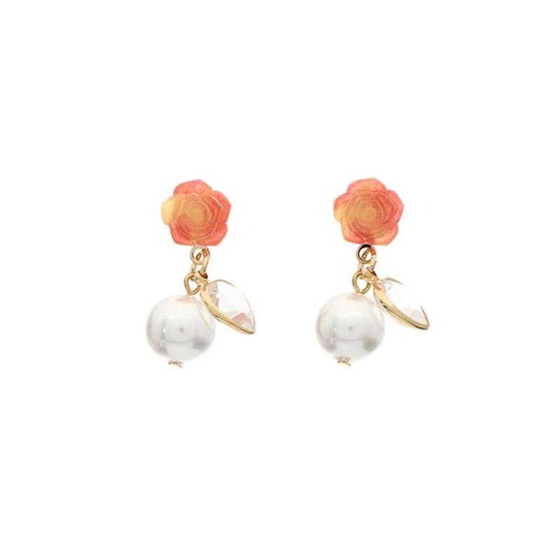 ac3840 형광등 켠듯 로맨틱한 화사함이 돋보이는 플라워 진주이어링 earring