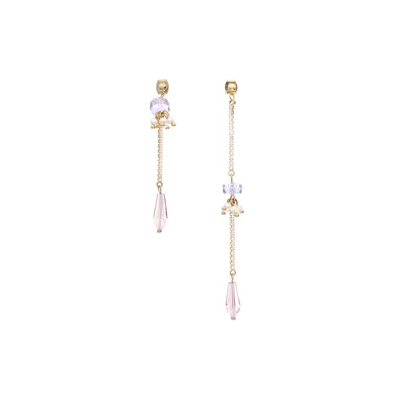 ac3872 은은한 디자인으로 여리여리하게 연출되는 언발 드롭 이어링, 귀찌 earring