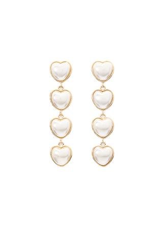 ac3834 사랑스러운 하트 드롭 디자인의 예쁨 가득한 포인트 이어링 earring