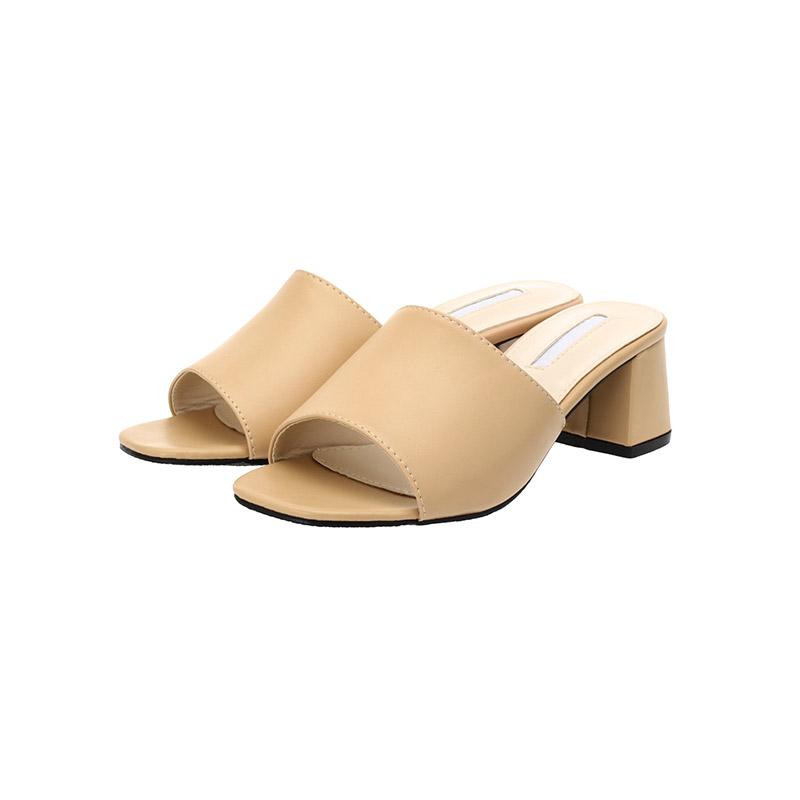sh1388 2가지 굽타입으로 완성된 데일리 오픈토 미들힐 슈즈 shoes