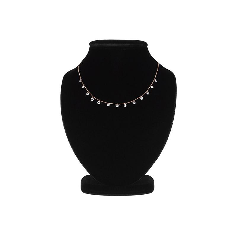 ac3891 명품 레이블 감성 듬뿍 담아 스와로브스키 큐빅N실버로 제작된 은은한 네크리스 necklace