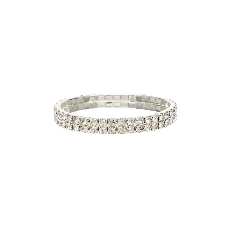 ac3905 3가지 사이즈로 구성된 쫀쫀한 뱅글 타입의 크리스탈 큐빅 브레이슬릿 bracelet