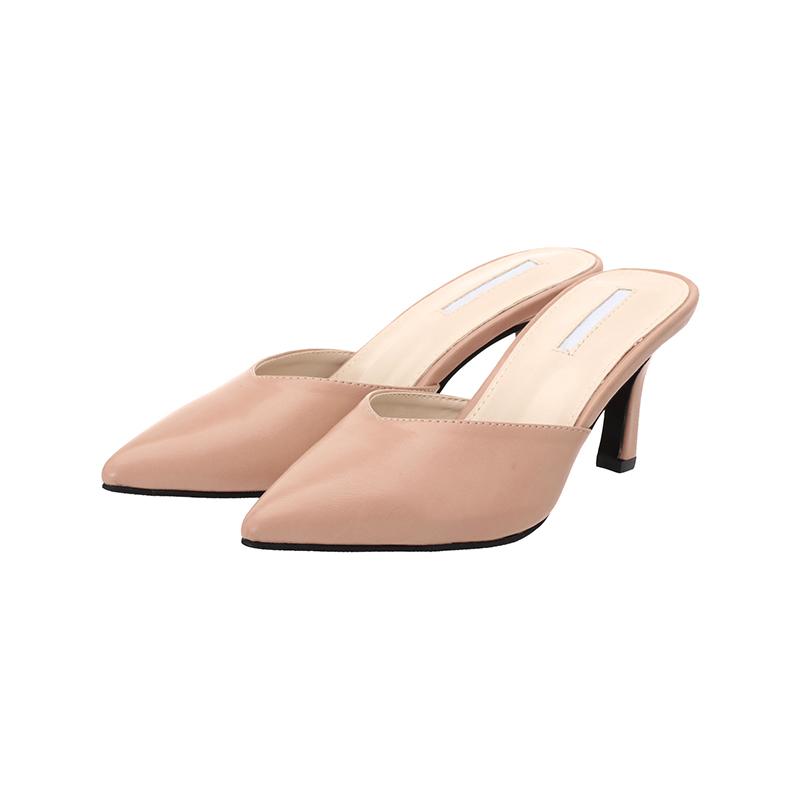 sh1447 세련된 이미지를 선사할 포인트 앞코 뮬 슈즈 shoes