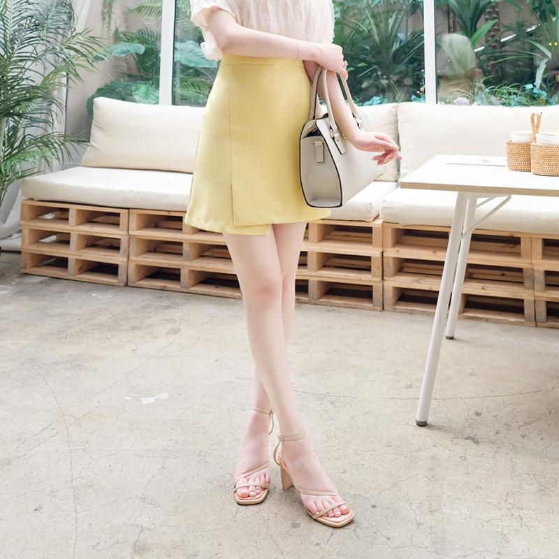 sk3569 탄탄한 패브릭라 슬릿포인트 베이직 a라인 스커트 skirt