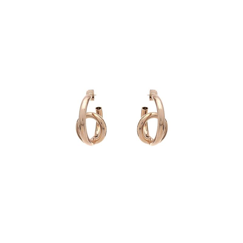 ac4084 볼륨있는 쉐입으로 트렌디한 포인트 은침 빅 이어링 earring
