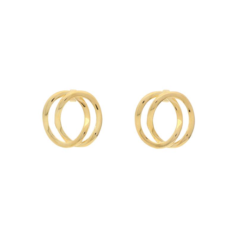 ac4096 볼드한 사이즈의 트윈 링 이어링 earring