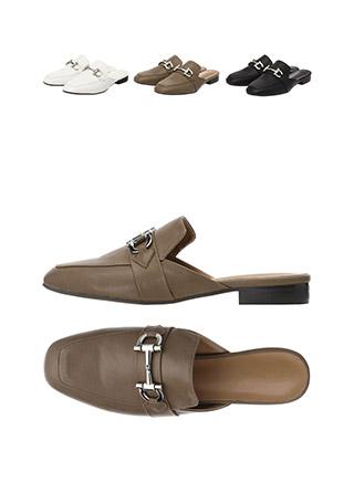sh1577 클래식한 무드의 실버버클 포인트 블로퍼 슈즈 shoes