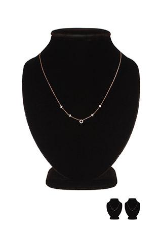 ac4109 앙증맞은 라운드 큐빅과 잔잔한 큐빅 장식의 여리 네크리스 necklace