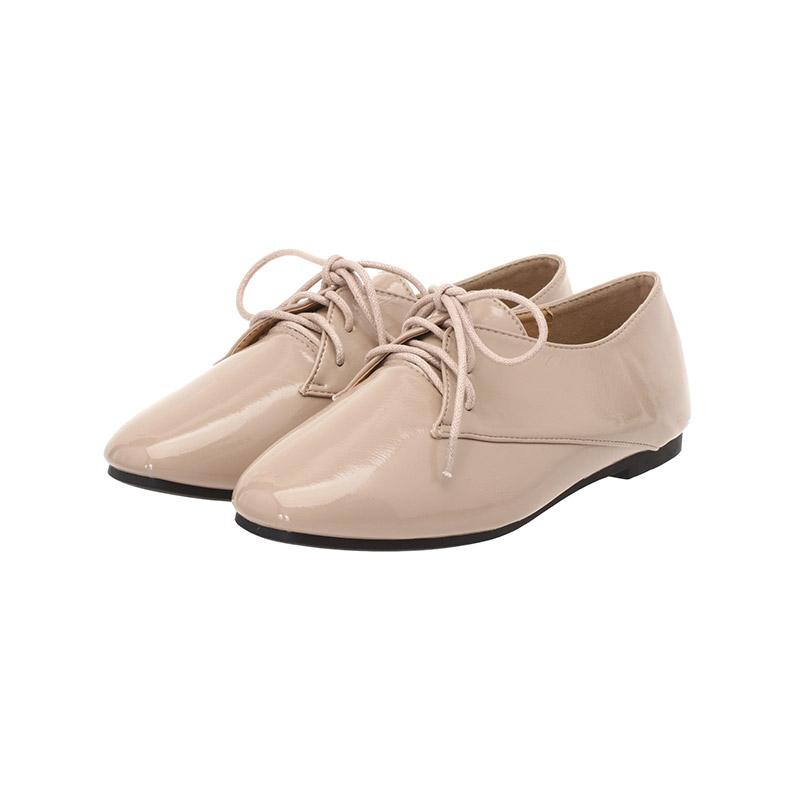 sh1615 캐주얼 무드의 고급진 에나멜 플랫 로퍼 슈즈 shoes