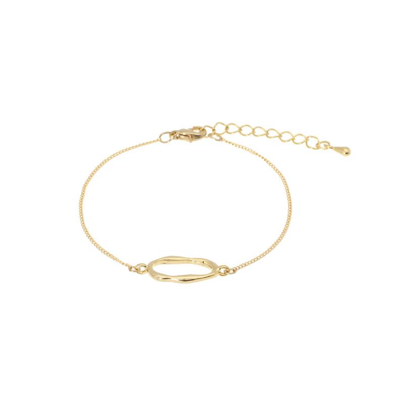 ac4156 골드 프레임 장식의 포인트 브레이슬릿 bracelet