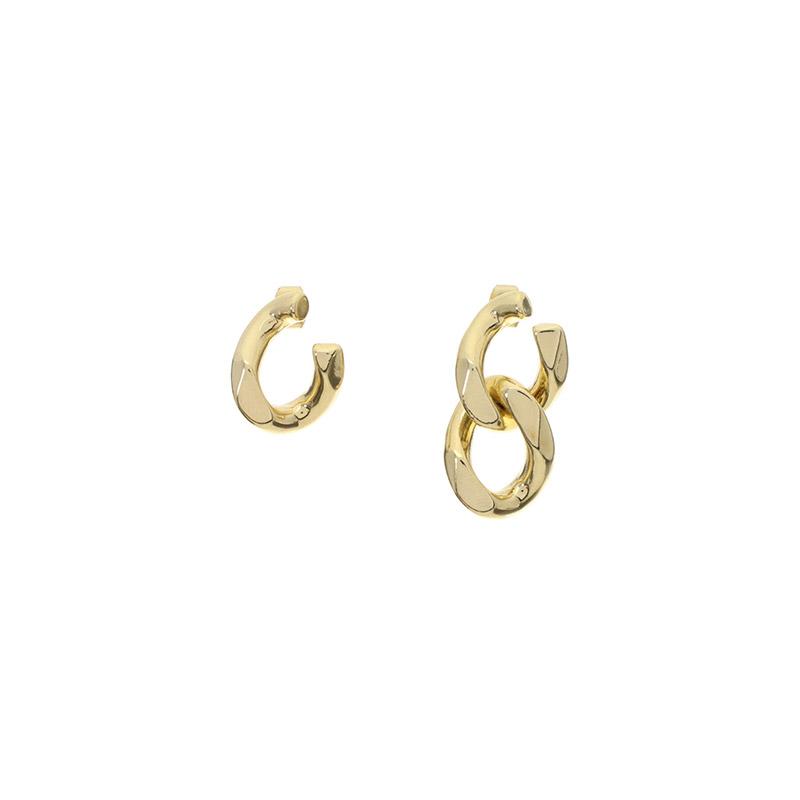 ac4163 볼드한 체인 장식의 언발 포인트 이어링 earring