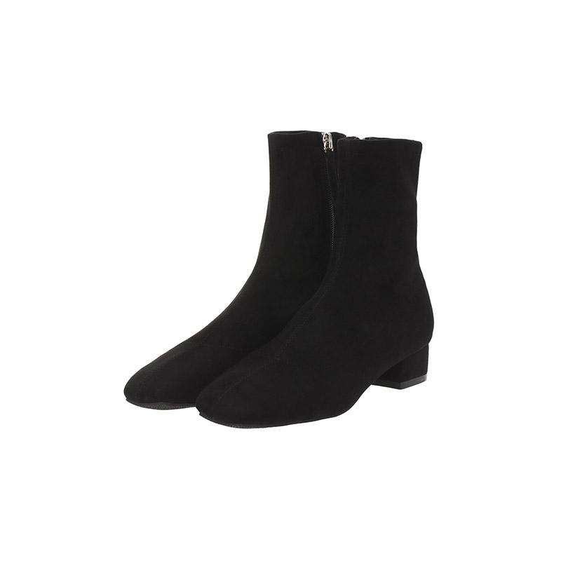 sh1606 트렌디한 슬림핏 삭스형 블랙 스웨이드 앵클부츠 shoes